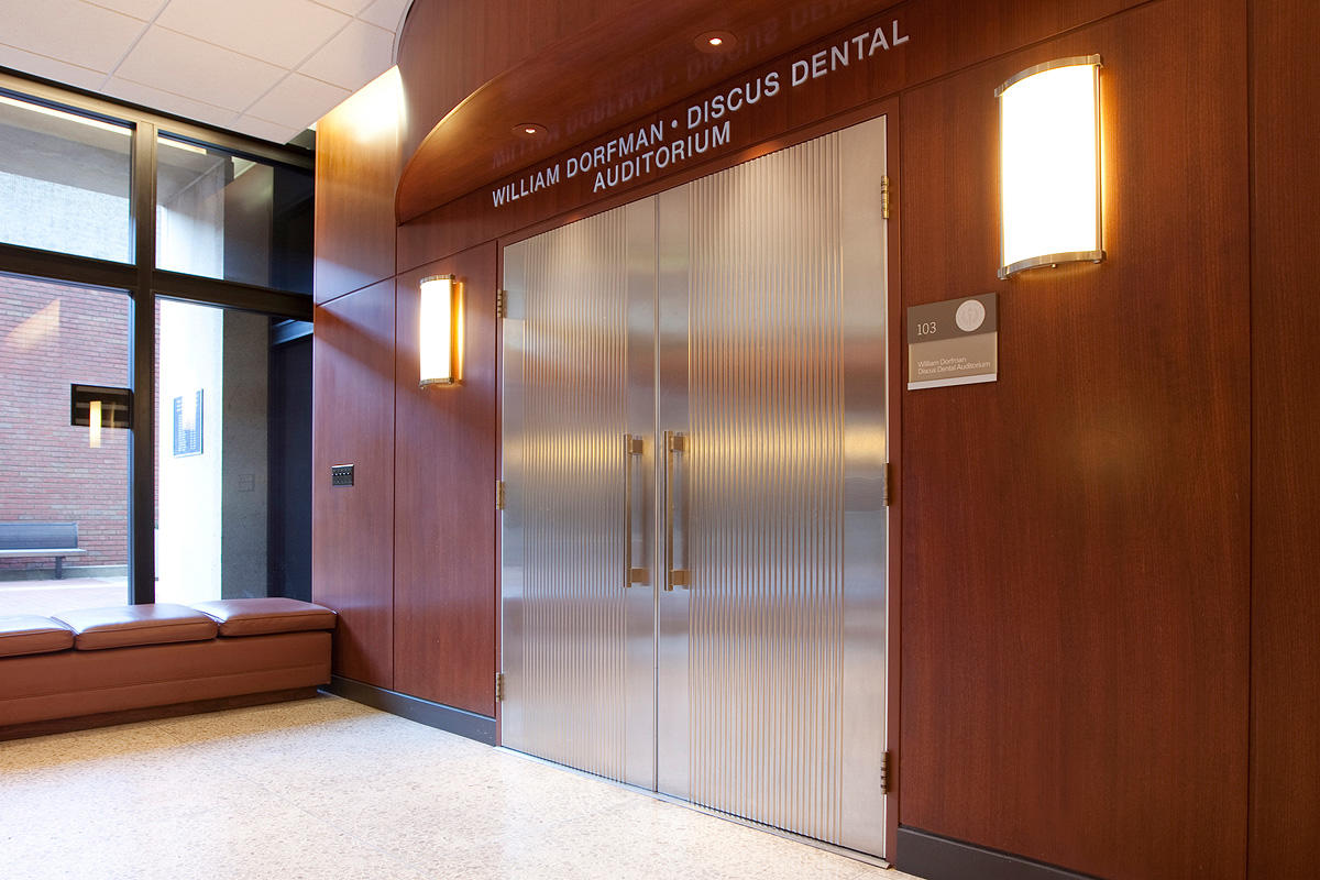 interior school doors. Doors Shown In Stainless Steel With Satin Finish And Dallas Impression Pattern At University Of The Pacific School Dentistry, William Dorfman-Discus Interior