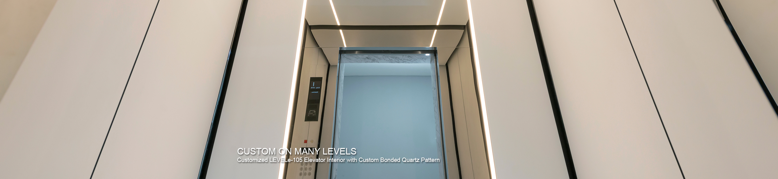 LEVELe-105 Elevator Interior with customized panel layout