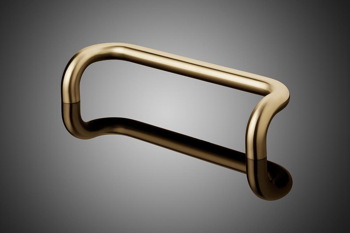 Grip Diameter: 1.5 · Round Model DT1021 Shown In Satin Brass (US4).
