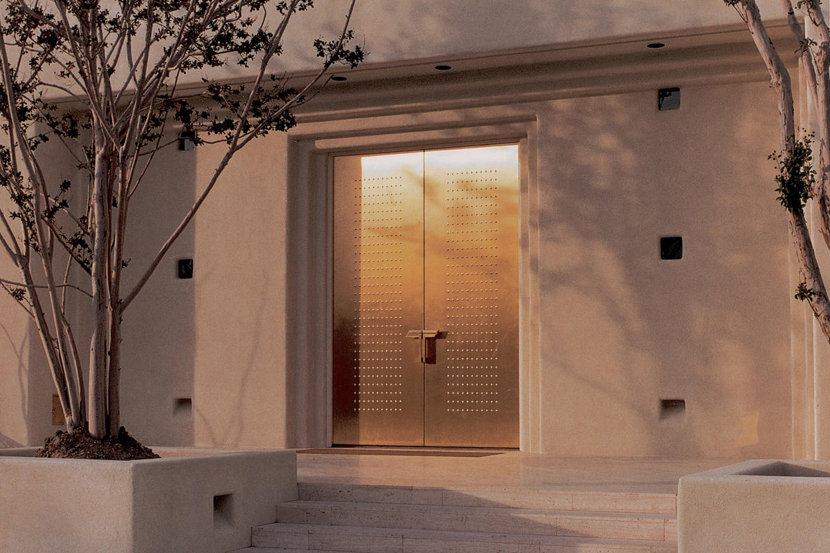 Fused metal doors architectural forms surfaces india for Steel door design