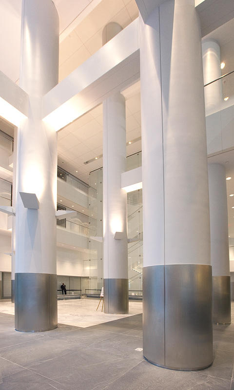 White Metal Pillars : Fifth avenue forms surfaces india