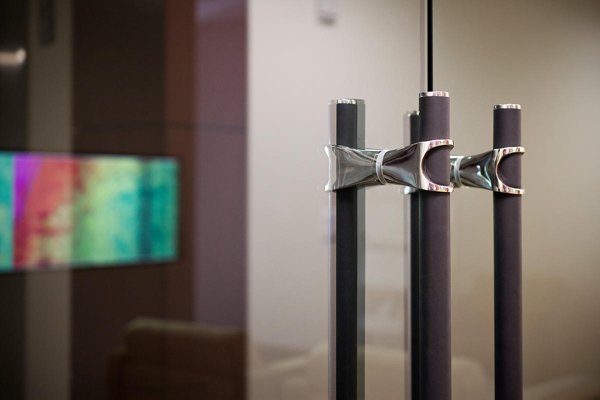 ... Compass Door Pulls With Santoprene Grips And Double Ring Standoffs In  Polished ...