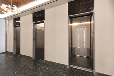 LEVELe-102 Elevator Interior with customized panel layout; panels in ViviGraphix